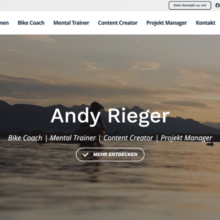 "Unser ""Happy Face"" Andy Rieger zeigt Profil"